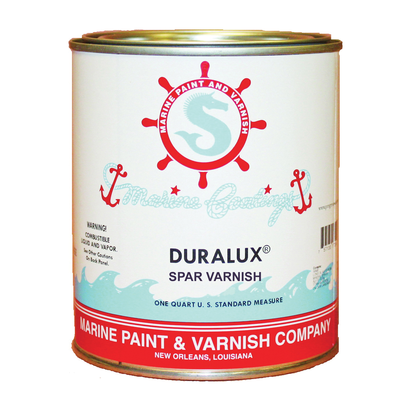 Picture of Duralux M738-4 Marine Clear Spar Varnish, High-Gloss, Clear, Liquid, 1 qt, Can