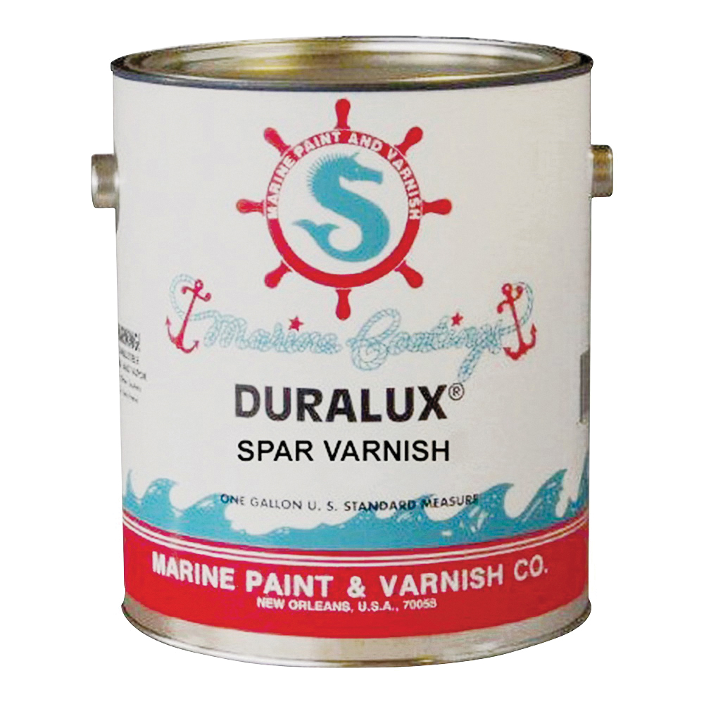 Picture of Duralux M738-1 Marine Clear Spar Varnish, High-Gloss, Clear, Liquid, 1 gal, Pail