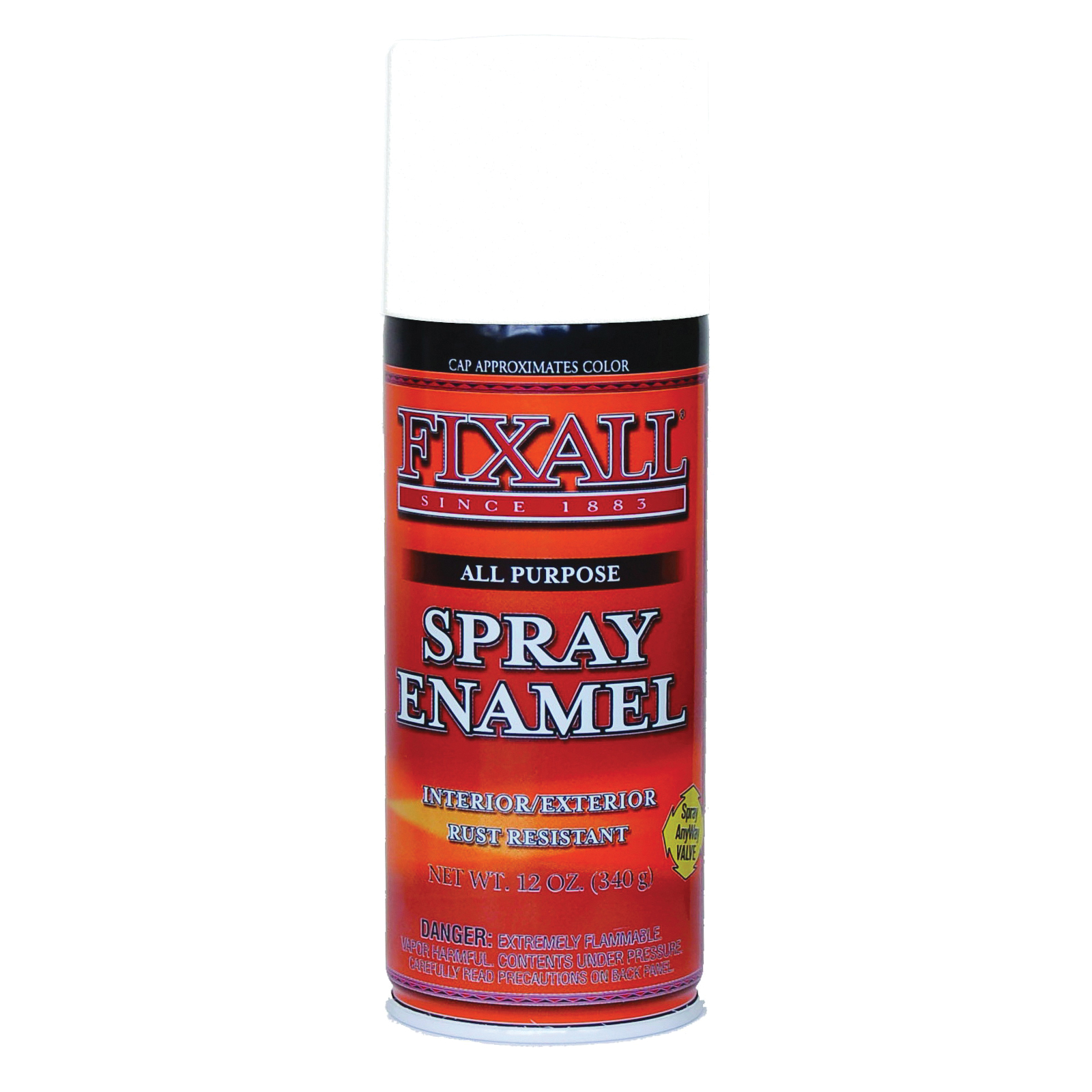Picture of FixALL F1301 Enamel Spray Paint, Gloss, White, Can