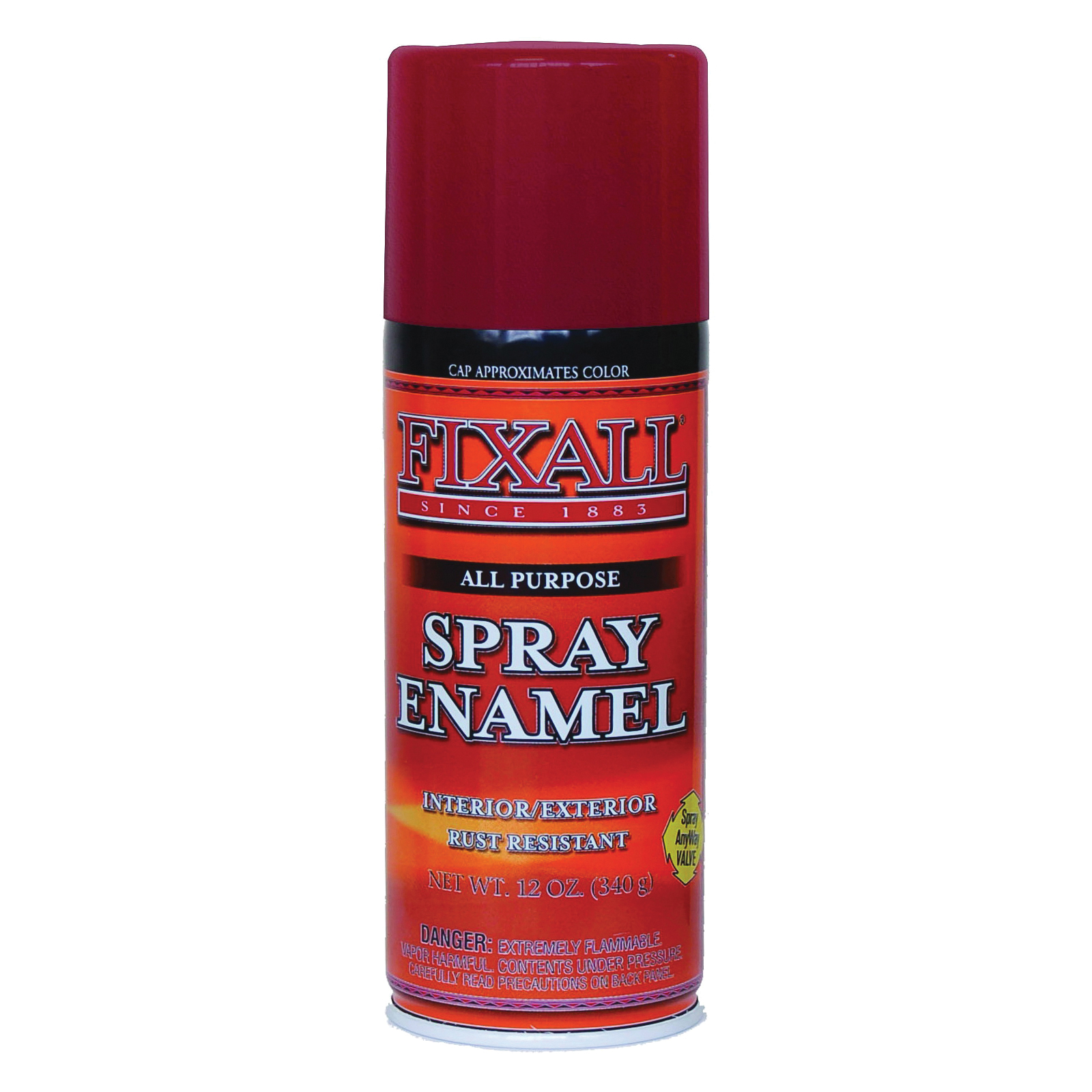 Picture of FixALL F1304 Enamel Spray Paint, Bright Red, Can