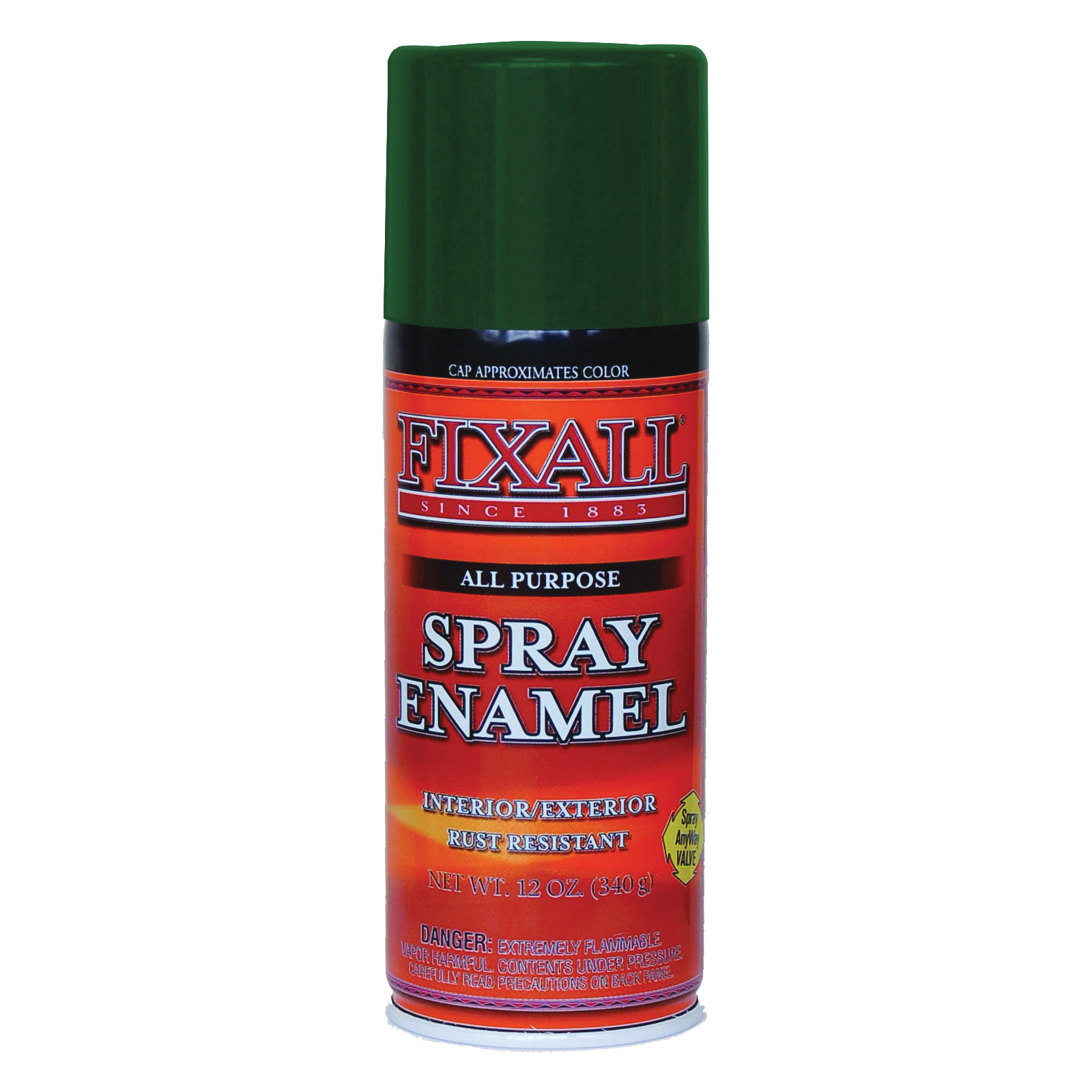 Picture of FixALL F1305 Enamel Spray Paint, Dark Green, Can