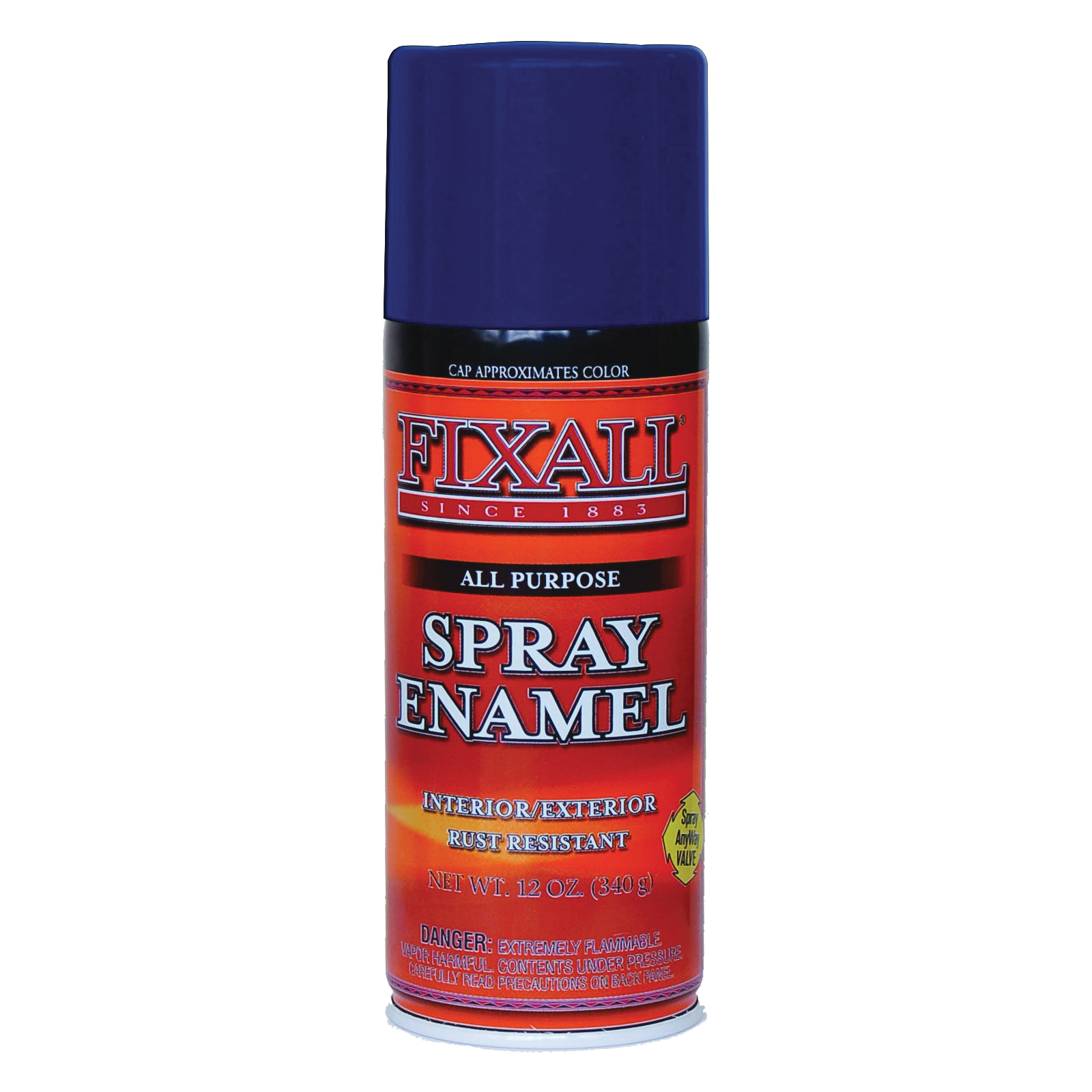 Picture of FixALL F1306 Enamel Spray Paint, Dark Blue, Can