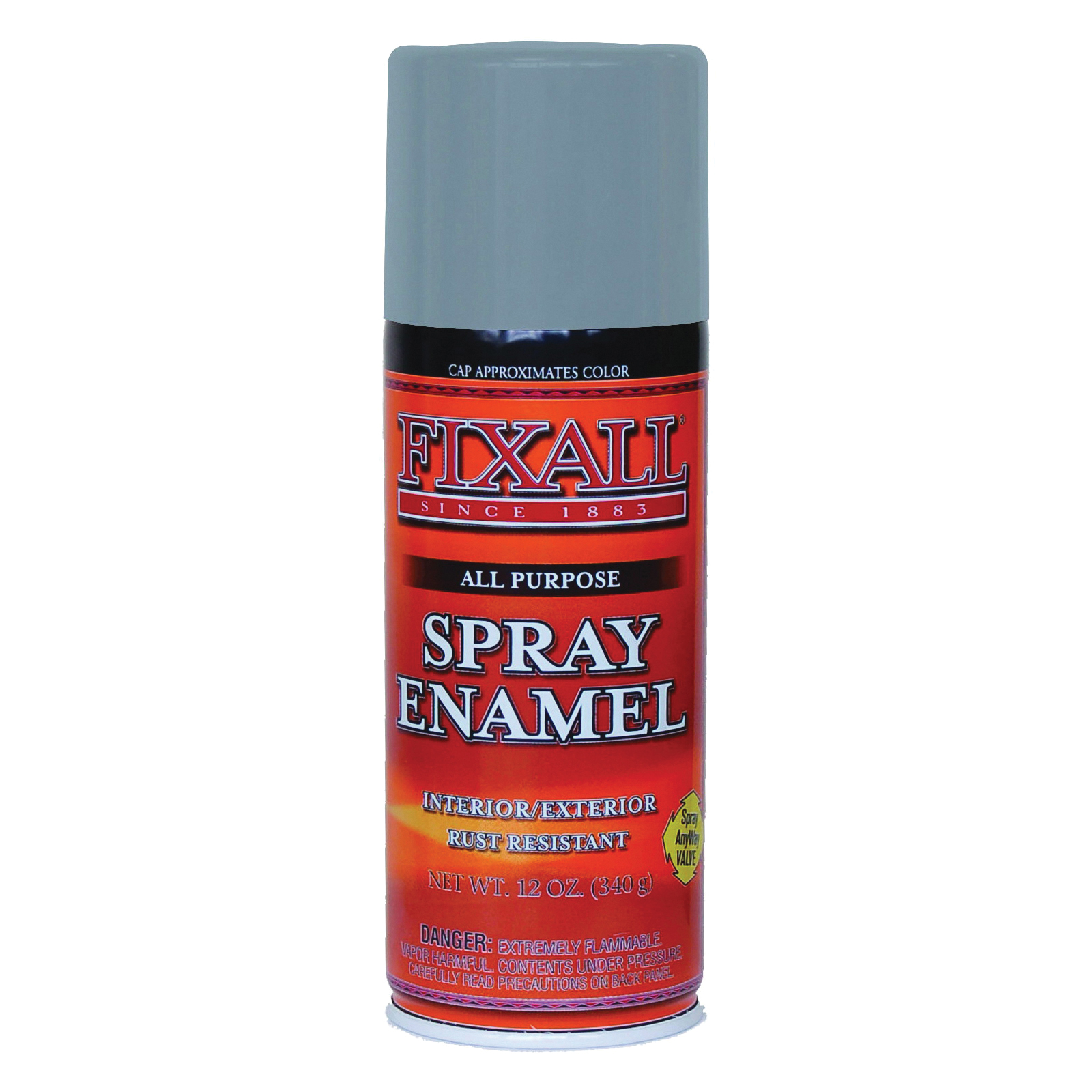Picture of FixALL F1307 Enamel Spray Paint, Aluminum, Can