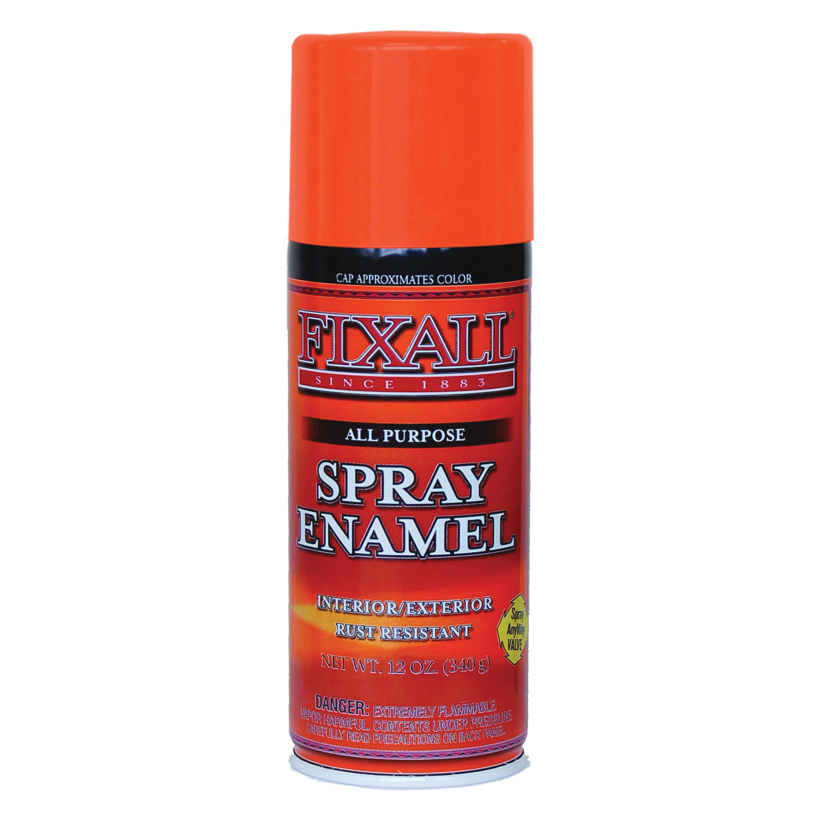 Picture of FixALL F1313 Enamel Spray Paint, Orange, Can