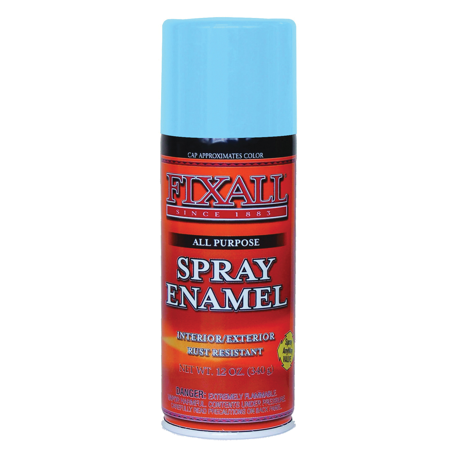 Picture of FixALL F1314 Enamel Spray Paint, Sky Blue, Can