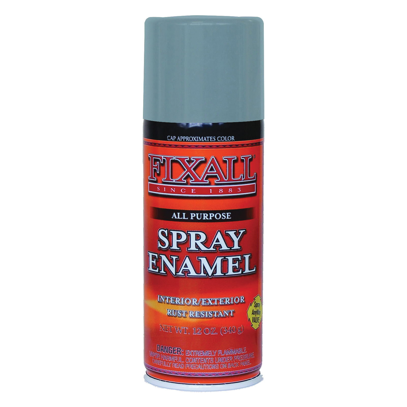 Picture of FixALL F1315 Enamel Spray Paint, Dark Gray, Can