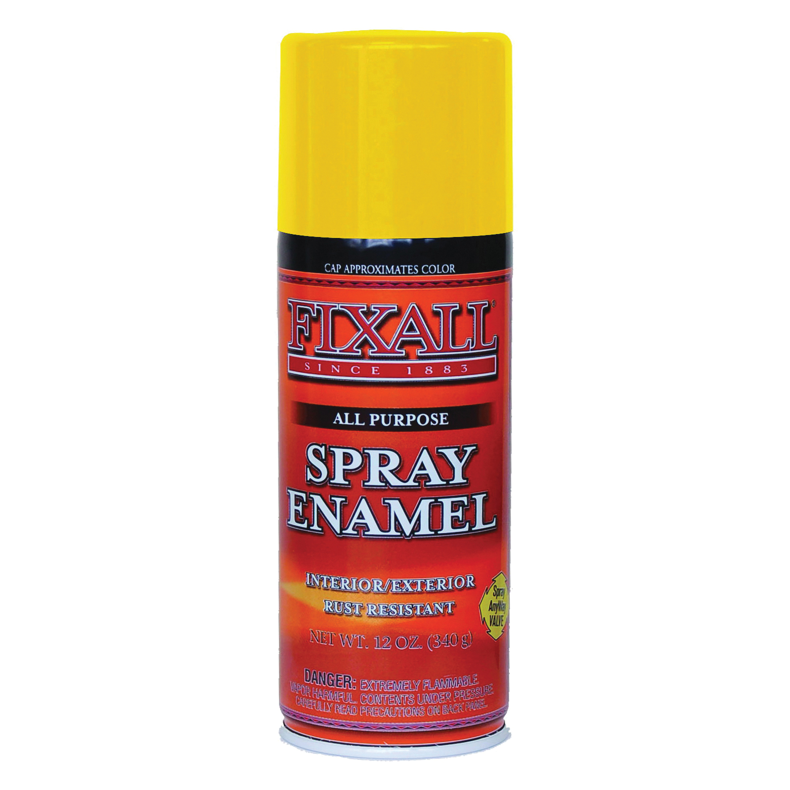 Picture of FixALL F1353 Enamel Spray Paint, Yellow, Can
