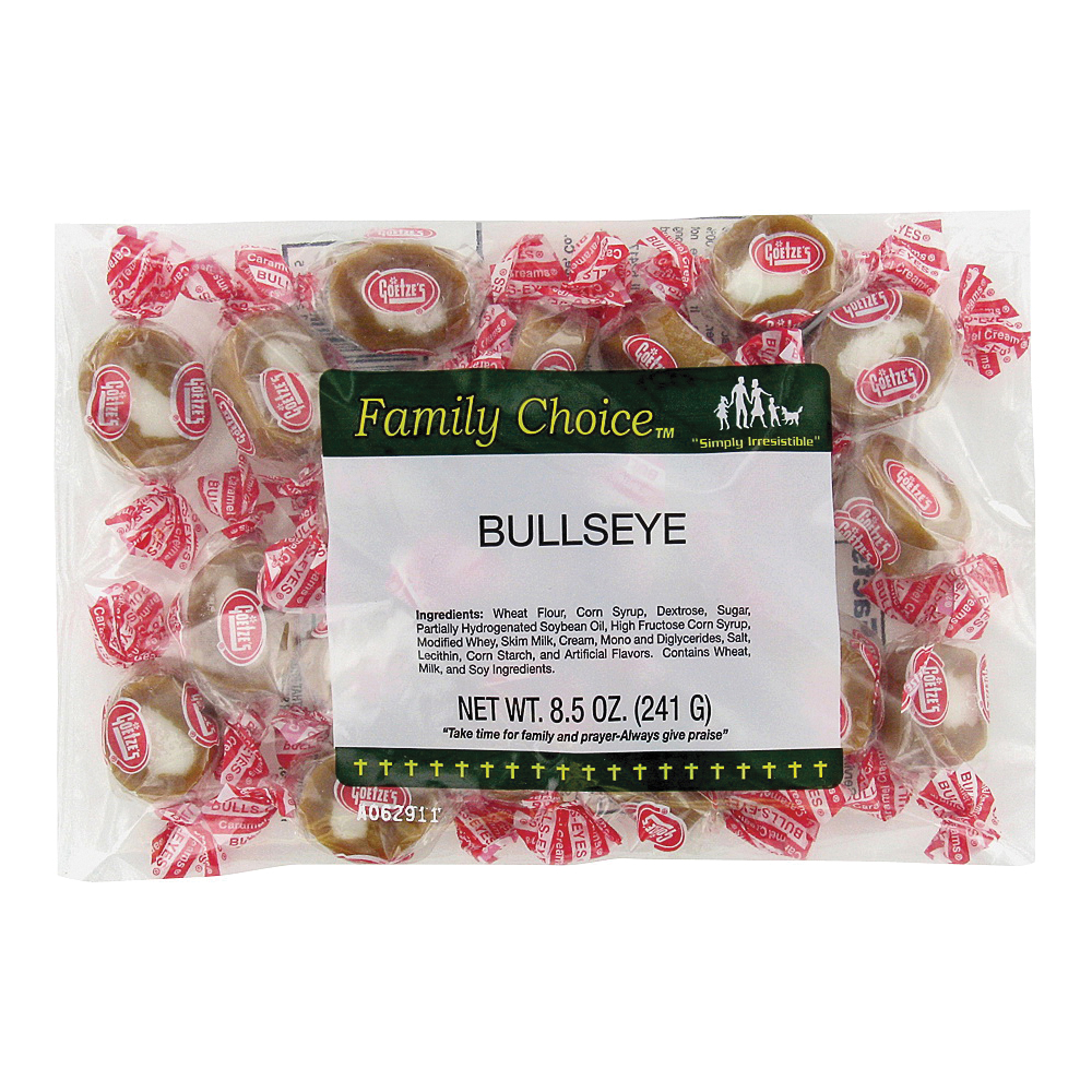 Picture of Family Choice 1135 Bullseye, Caramel Flavor, 7.5 oz Package