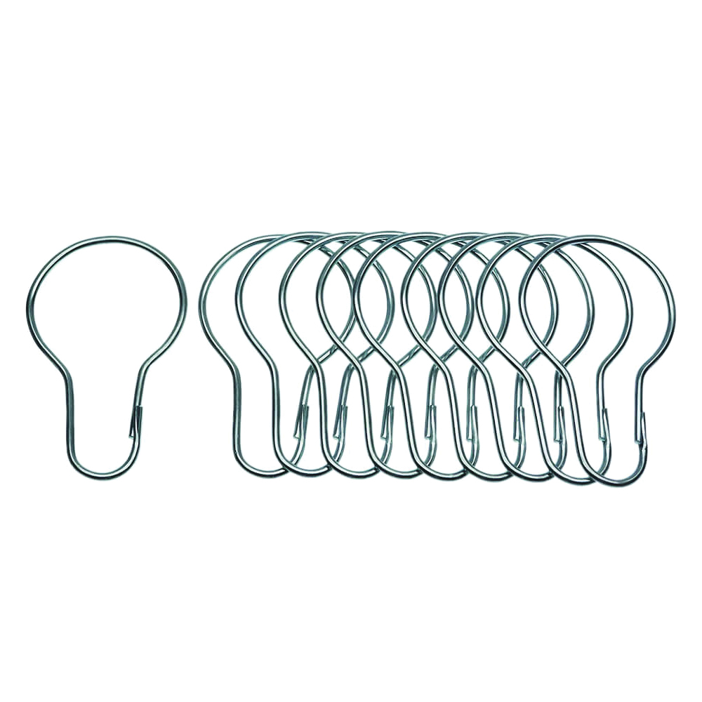 Picture of Danco 89046 Shower Curtain Hook, Metal, Chrome