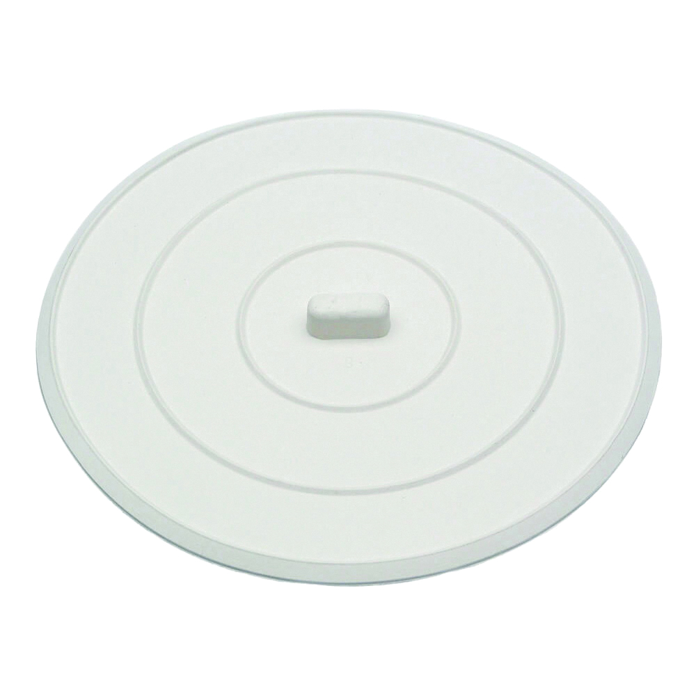 Picture of Danco 89042 Sink Stopper, Flat Suction, Rubber, White, For: Universal Bathroom and Kitchen Sink