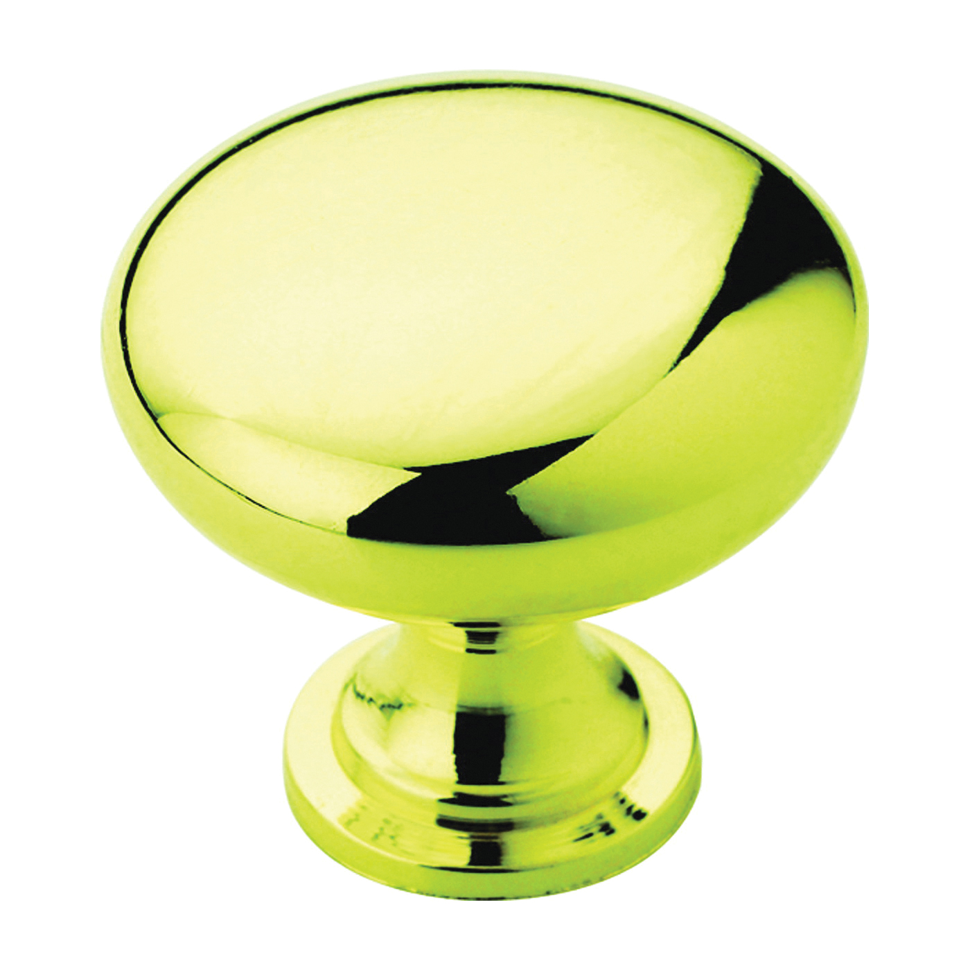 Picture of Amerock BP530053 Cabinet Knob, 1-1/8 in Projection, Zinc, Polished Brass