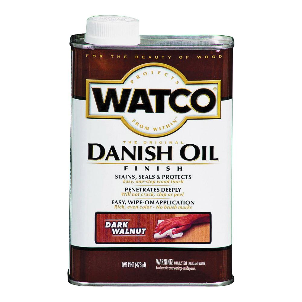 Picture of WATCO 65851 Danish Oil, Dark Walnut, Liquid, 1 pt, Can