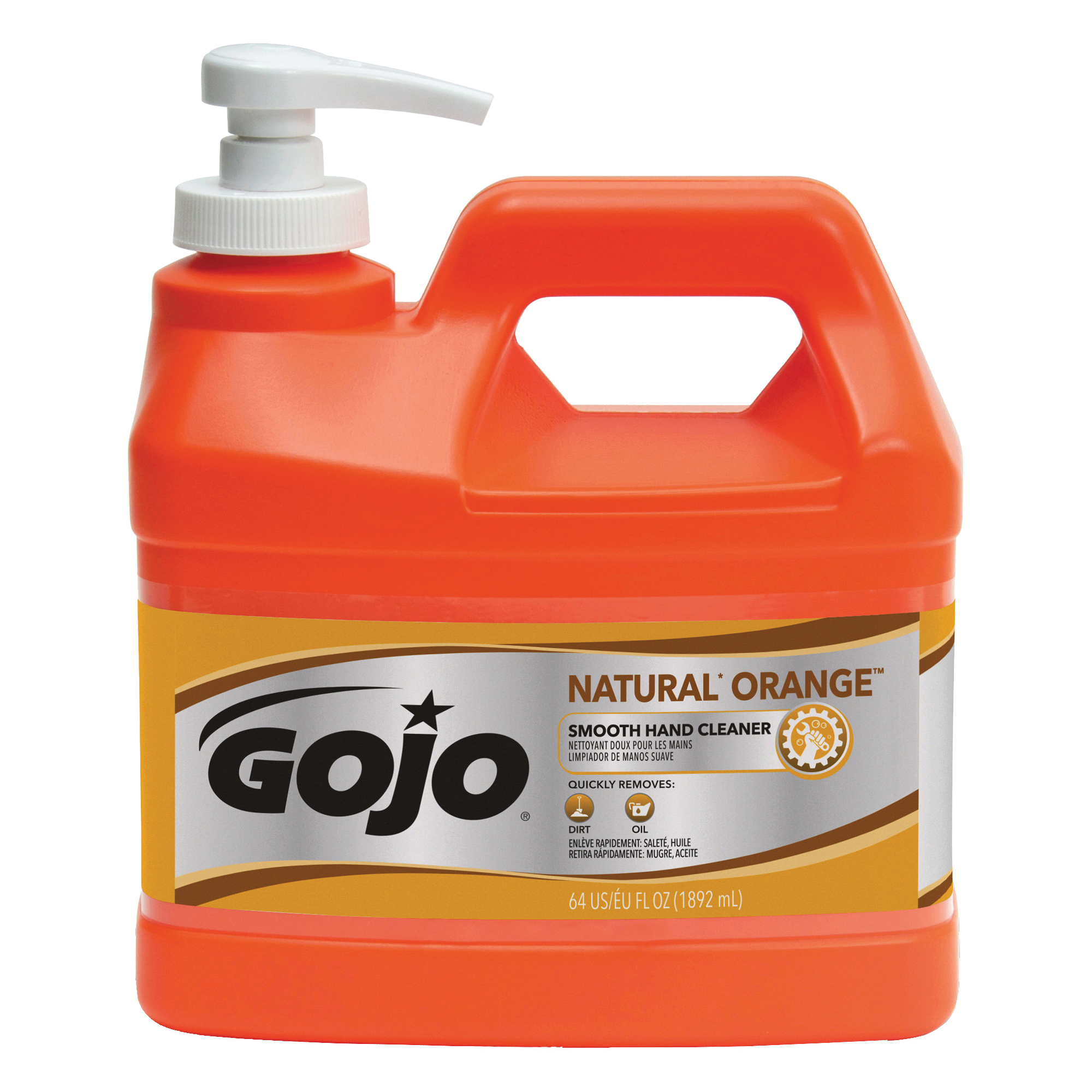 Picture of GOJO 0948-04 Hand Cleaner, Liquid, Citrus, 0.5 gal Package, Bottle