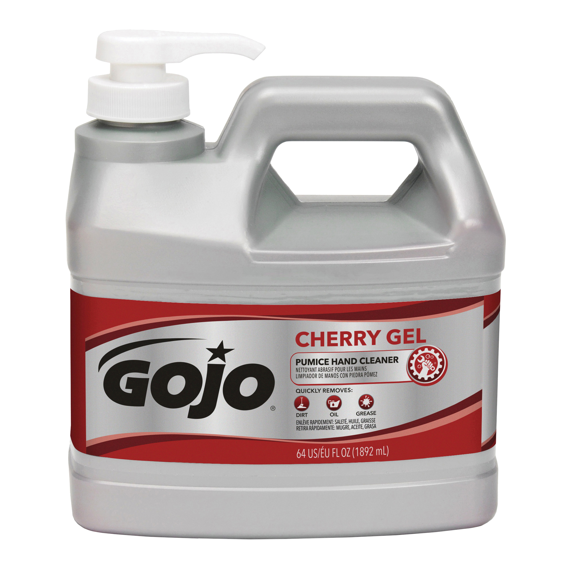 Picture of GOJO 2356-04 Hand Cleaner, Gel, Red, Cherry, 0.5 gal Package, Bottle