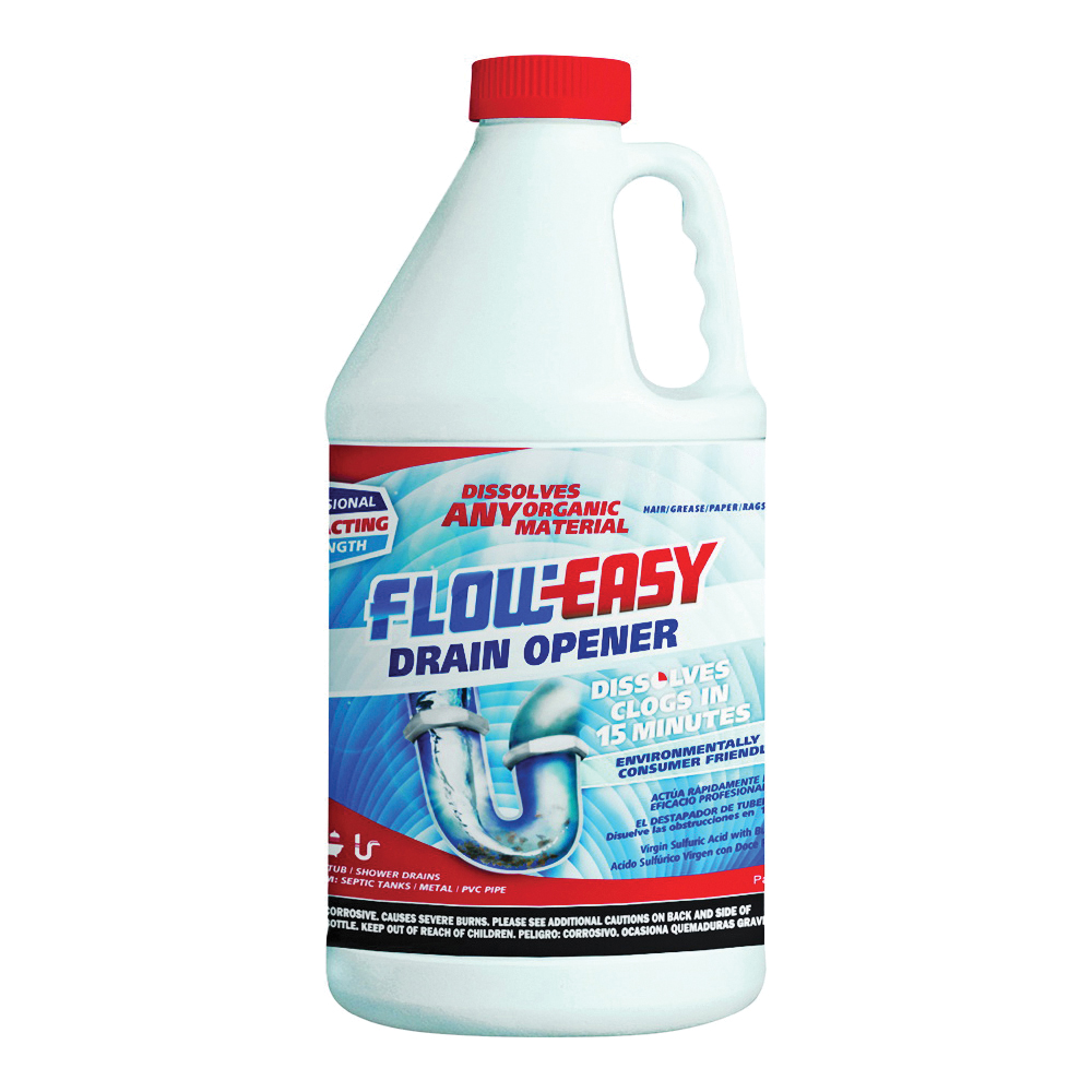 Picture of Flow-Easy FE64 Drain Opener, Oily Liquid, Dark Brown, Odorless, 0.5 gal Package, Bottle