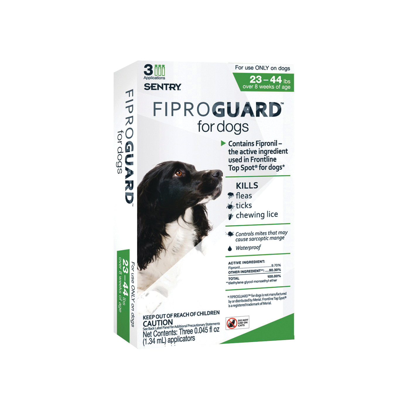 Picture of SENTRY Fiproguard 02951 Flea and Tick Squeeze-On, Liquid, 3 Count Package