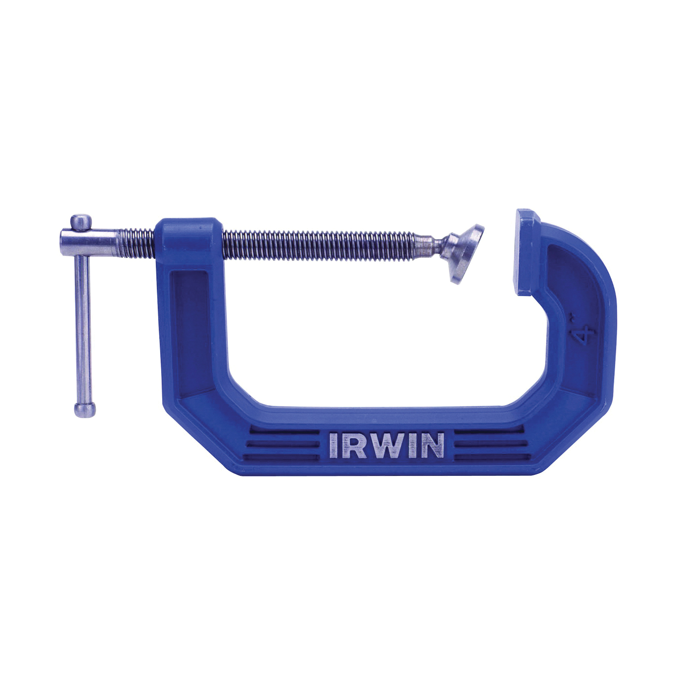 Picture of IRWIN 2025102 C-Clamp, 10 lb Clamping, 2-1/2 in Max Opening Size, 1-3/8 in D Throat, Steel Body, Blue Body