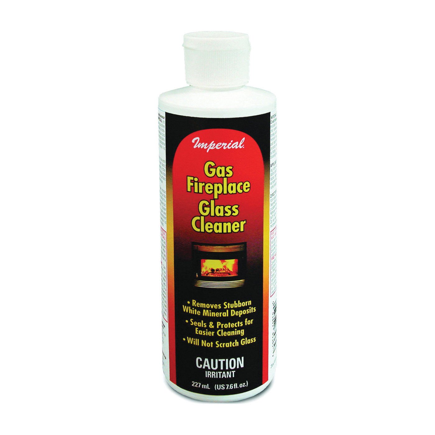 Picture of Imperial KK0044 Gas Fireplace Glass Cleaner, Liquid, Beige/Opaque, Viscous Liquid, 7.6 fl-oz Package, Bottle