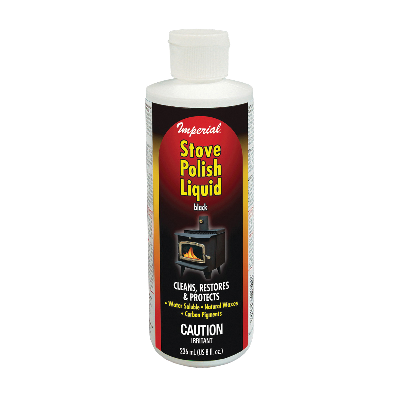 Picture of Imperial KK0057 Stove Polish, Liquid, Opaque Black, Pleasant, 8 fl-oz Package, Bottle