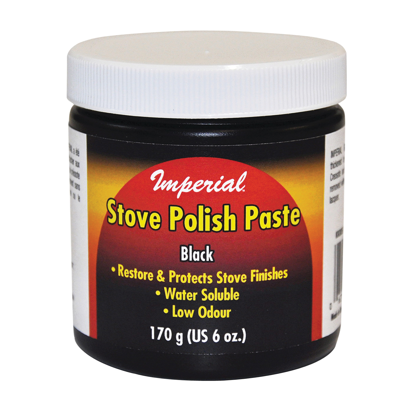 Picture of Imperial KK0059 Stove Polish, Paste, Opaque Black, Neutral Oil, 6 fl-oz Package, Jar