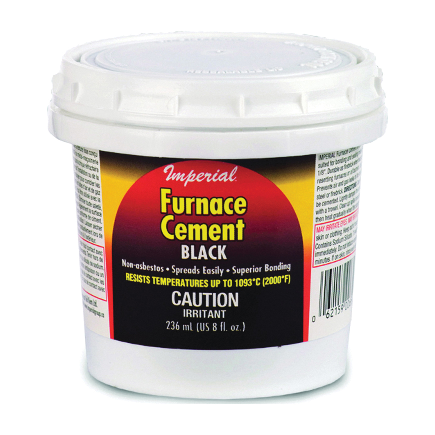 Picture of Imperial KK0077-A Furnace Cement, Paste, Black, 8 oz Package, Tub