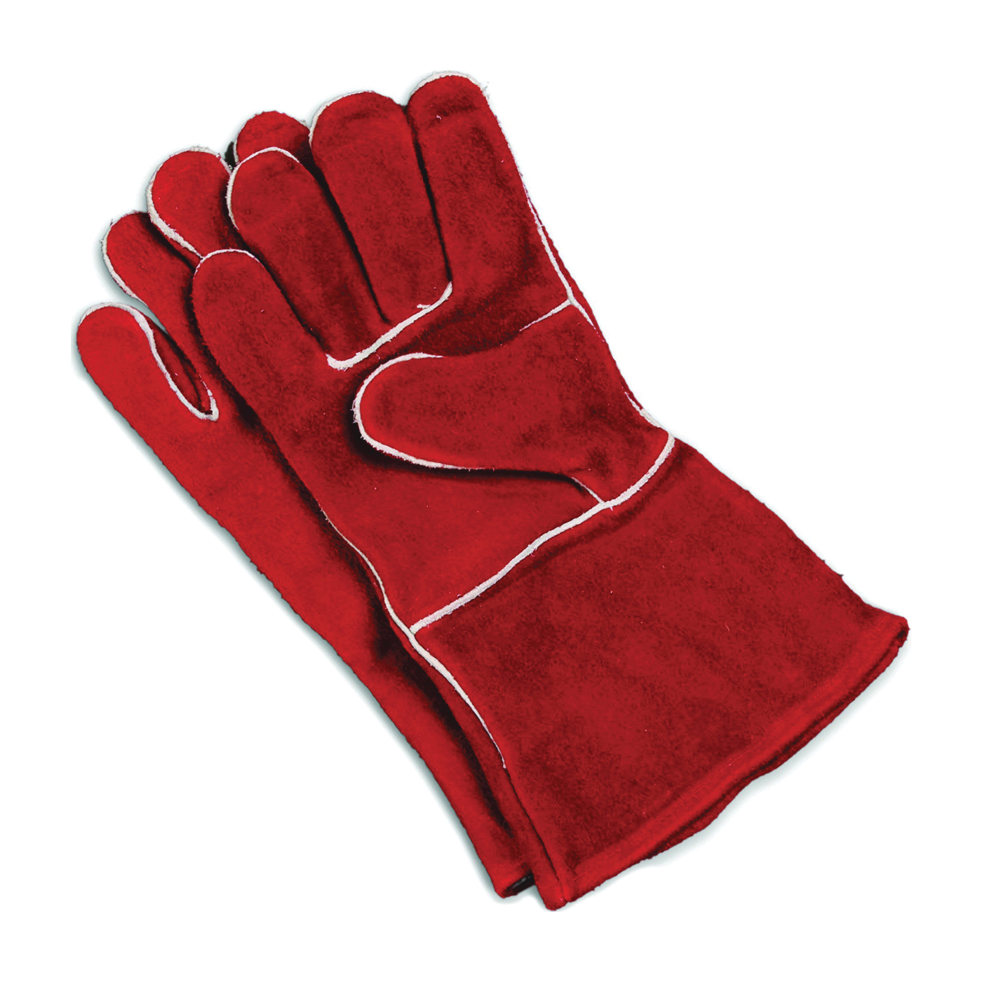 Picture of Imperial KK0159 Fireplace Gloves, Cowhide Leather Lining, Cowhide Leather, Red