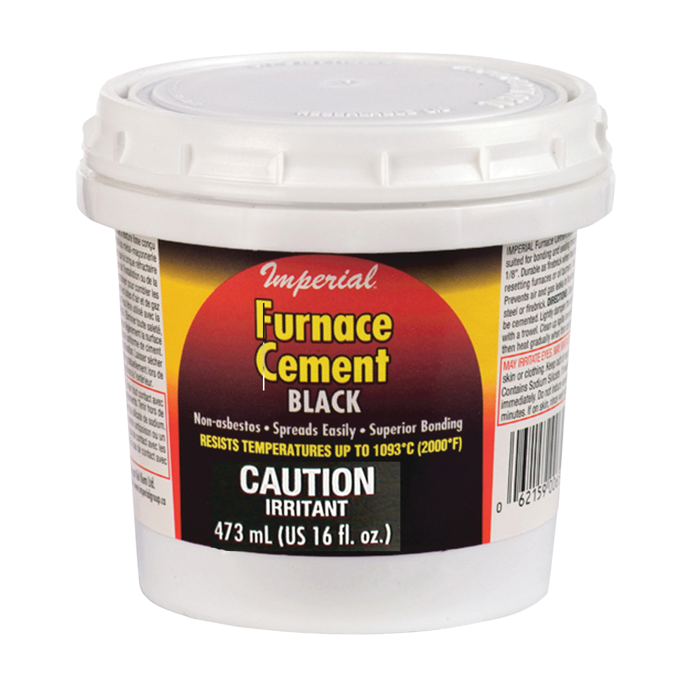 Picture of Imperial KK0295-A Furnace Cement, Paste, Black, 16 oz Package, Tub