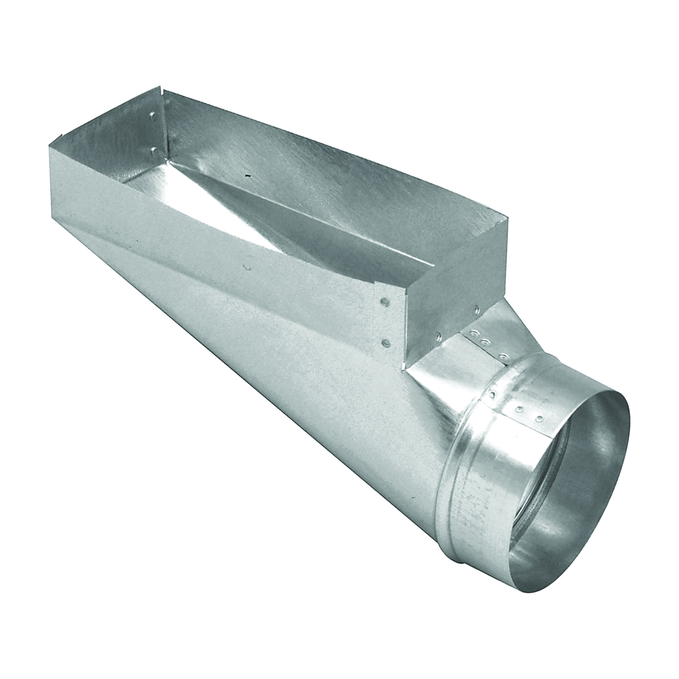 Picture of Imperial GV0657 End Boot, 3-1/4 in L, 10 in W, 5 in H, 90 deg Angle, Steel, Galvanized