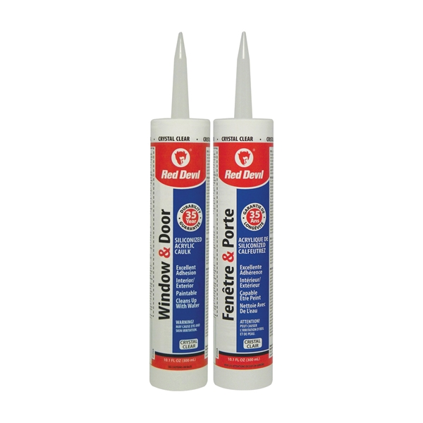 Picture of Red Devil 00135CA Silicone Acrylic Sealant, Clear, 10.1 oz Package, Cartridge