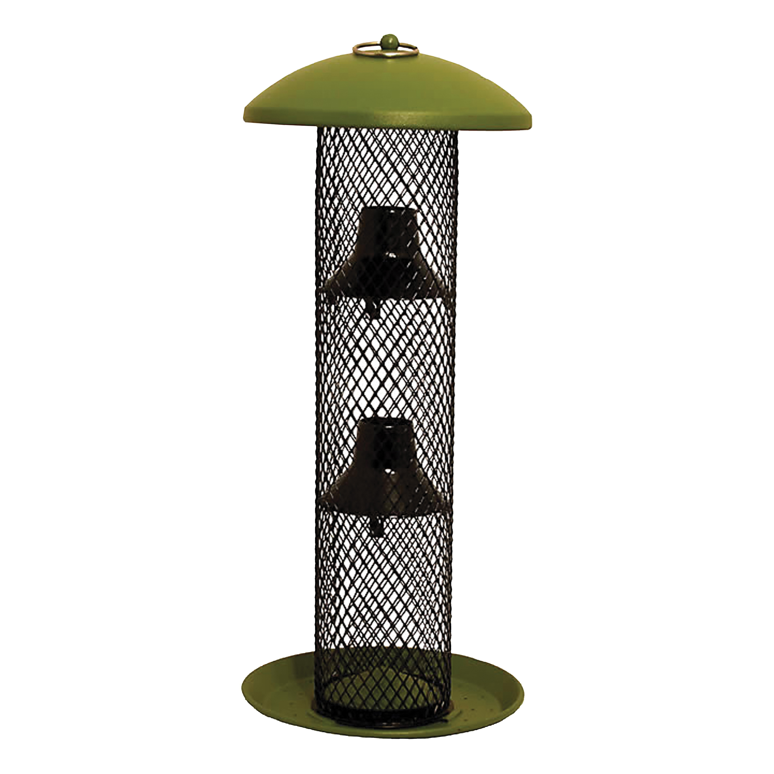Picture of Perky-Pet NO/NO GSS00347 Wild Bird Feeder, 16-1/2 in H, 1.5 lb, Metal, Green, Powder-Coated, Hanging Mounting