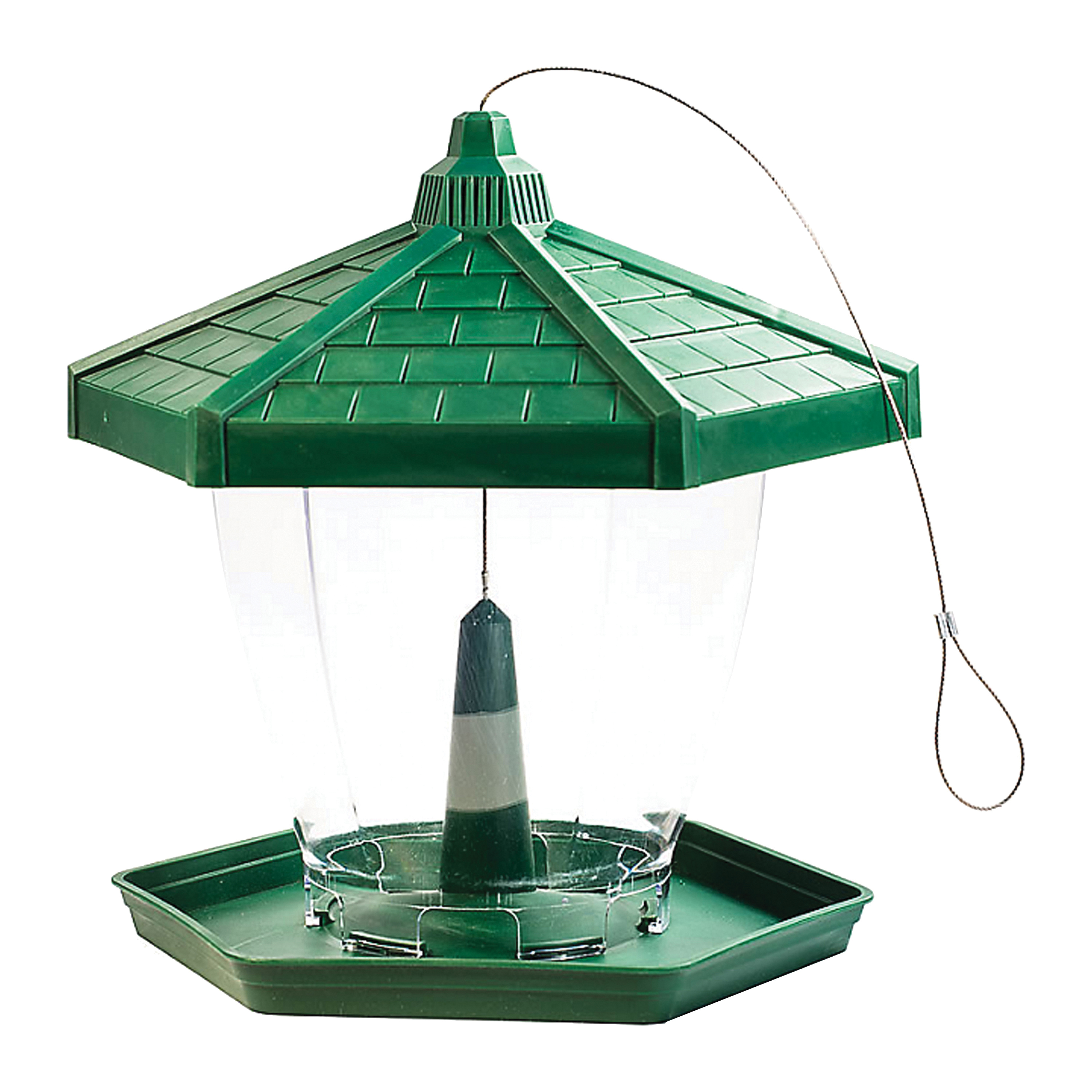 Picture of Perky-Pet HF940 Wild Bird Feeder, Perch, 4 lb, 1-Port/Perch, Plastic, Hanging Mounting