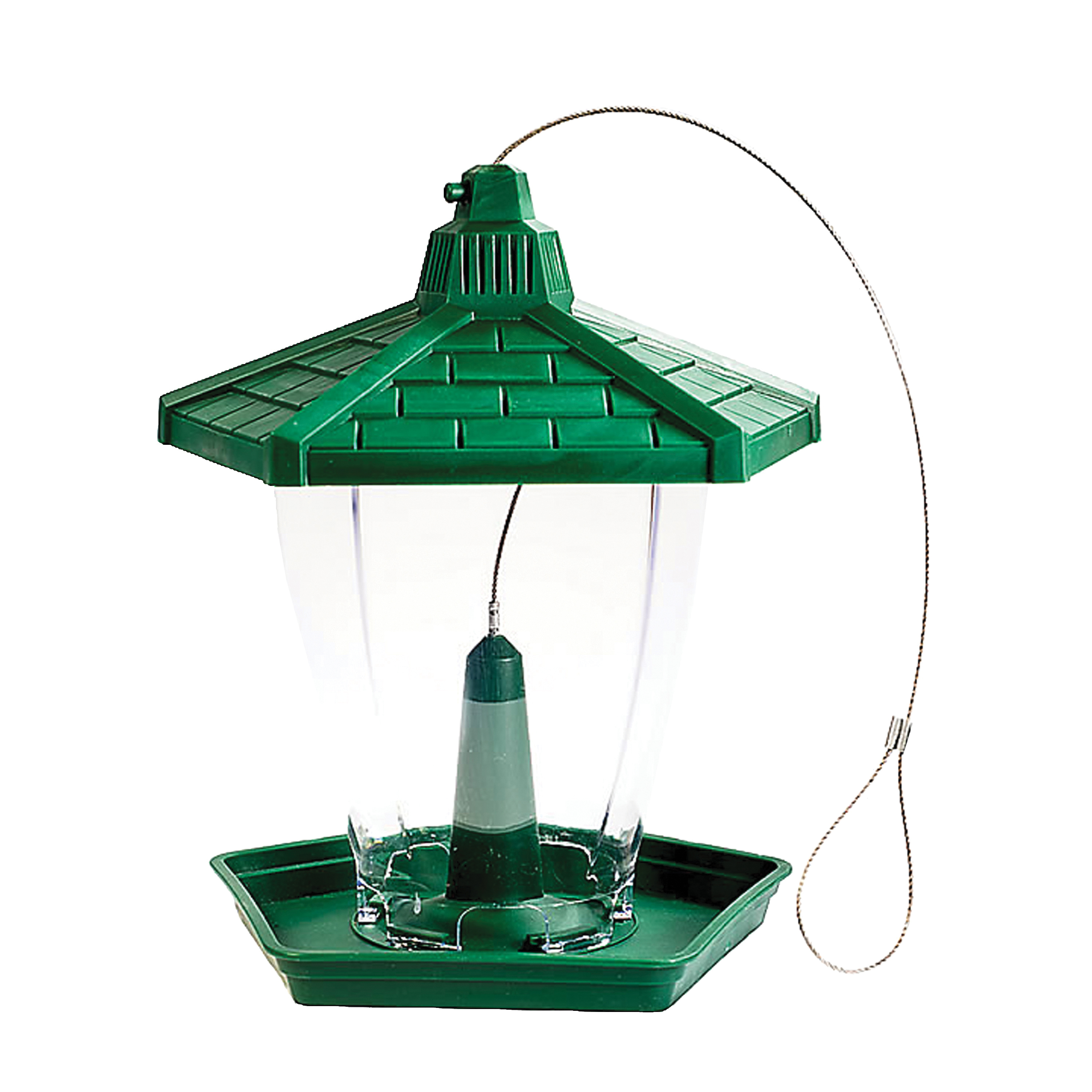 Picture of Perky-Pet HF950 Wild Bird Feeder, Perch, 1.25 lb, Plastic, Green, Hanging Mounting