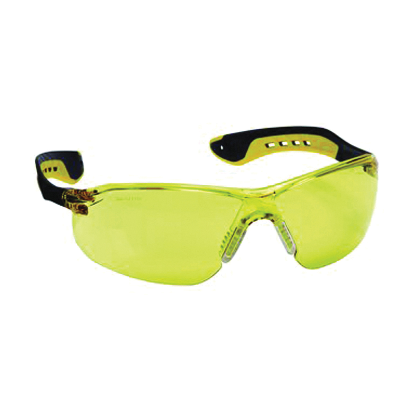 Picture of 3M 47013-WV6 Safety Glasses, Anti-Fog, Anti-Scratch Lens, Black/Yellow Frame