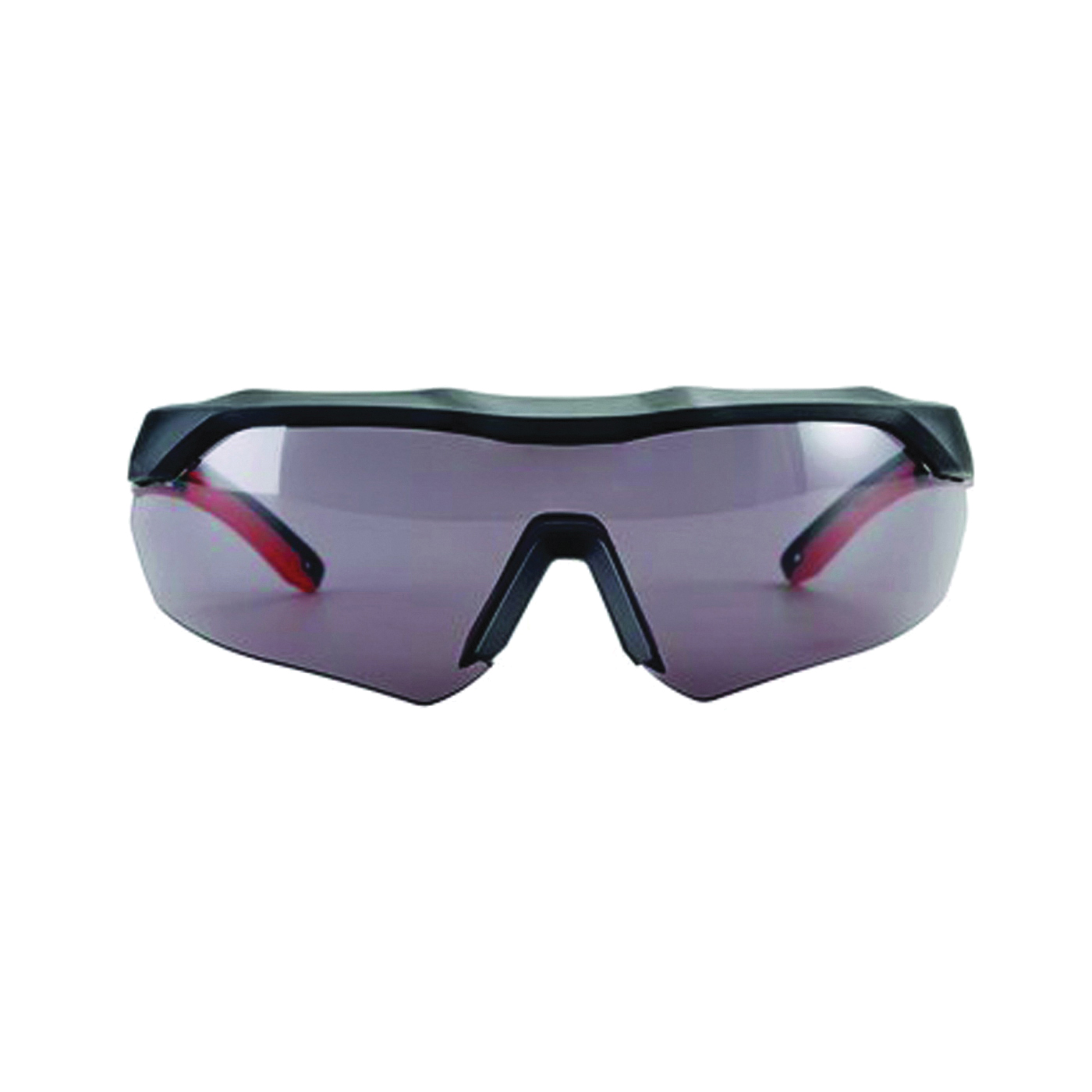 Picture of 3M 47091-WZ4 Safety Glasses, Anti-Fog, Anti-Scratch Lens, Wraparound Frame, Black/Red Frame