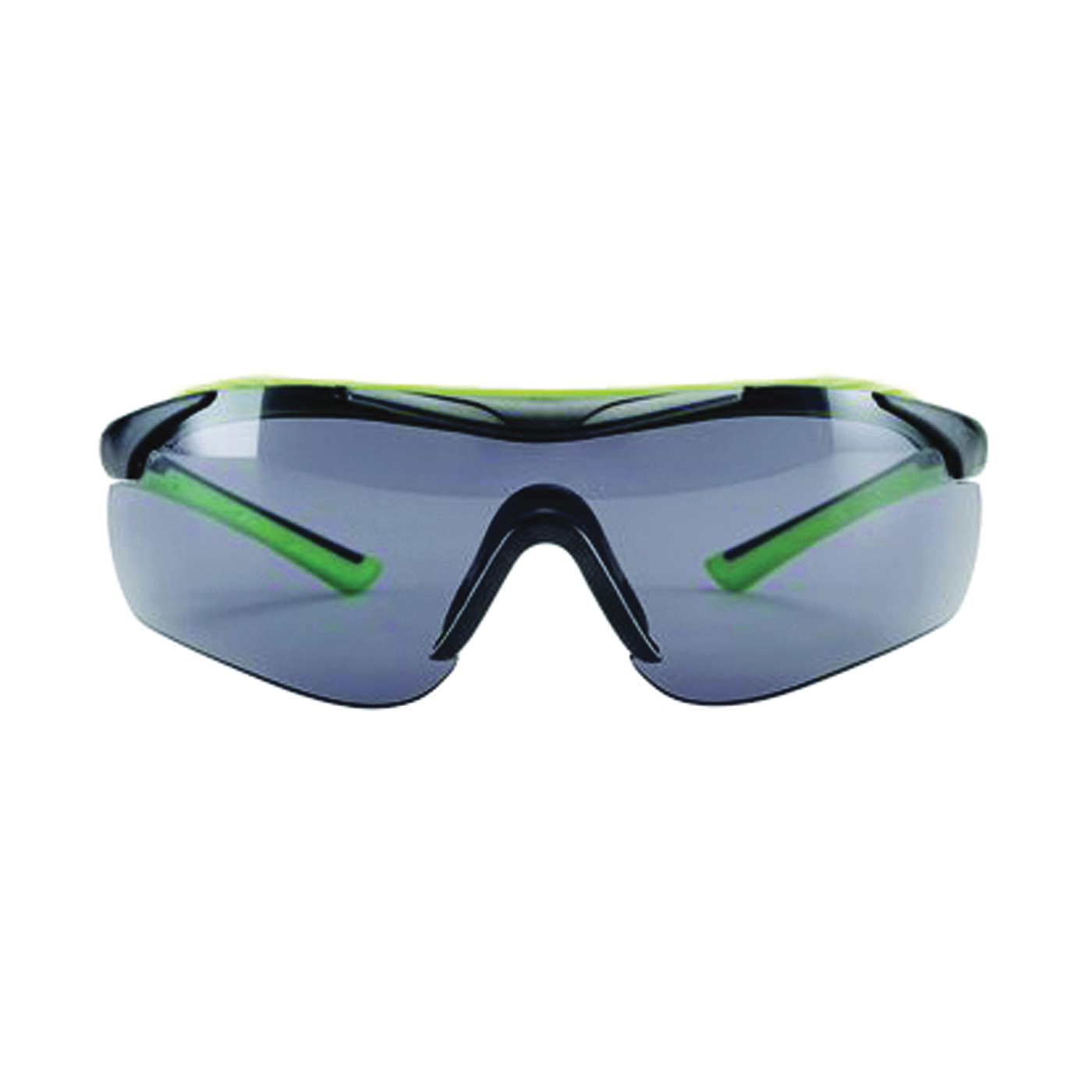 Picture of 3M 47101-WZ4 Safety Glasses, Anti-Fog, Anti-Scratch Lens, Wraparound Frame, Green/Neon Black Frame