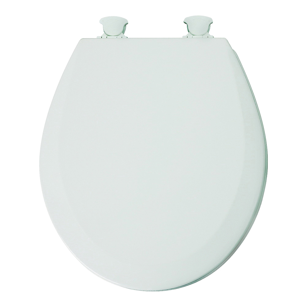 Picture of Mayfair 41ECDG-000 Toilet Seat, Round, Wood, White, Twist Hinge