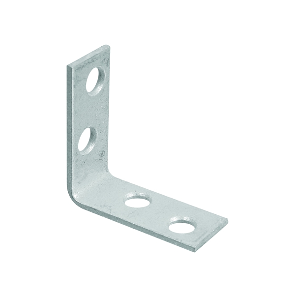 Picture of National Hardware 115BC Series N113-159 Corner Brace, 1-1/2 in L, 5/8 in W, Galvanized Steel, 0.08 Thick Material