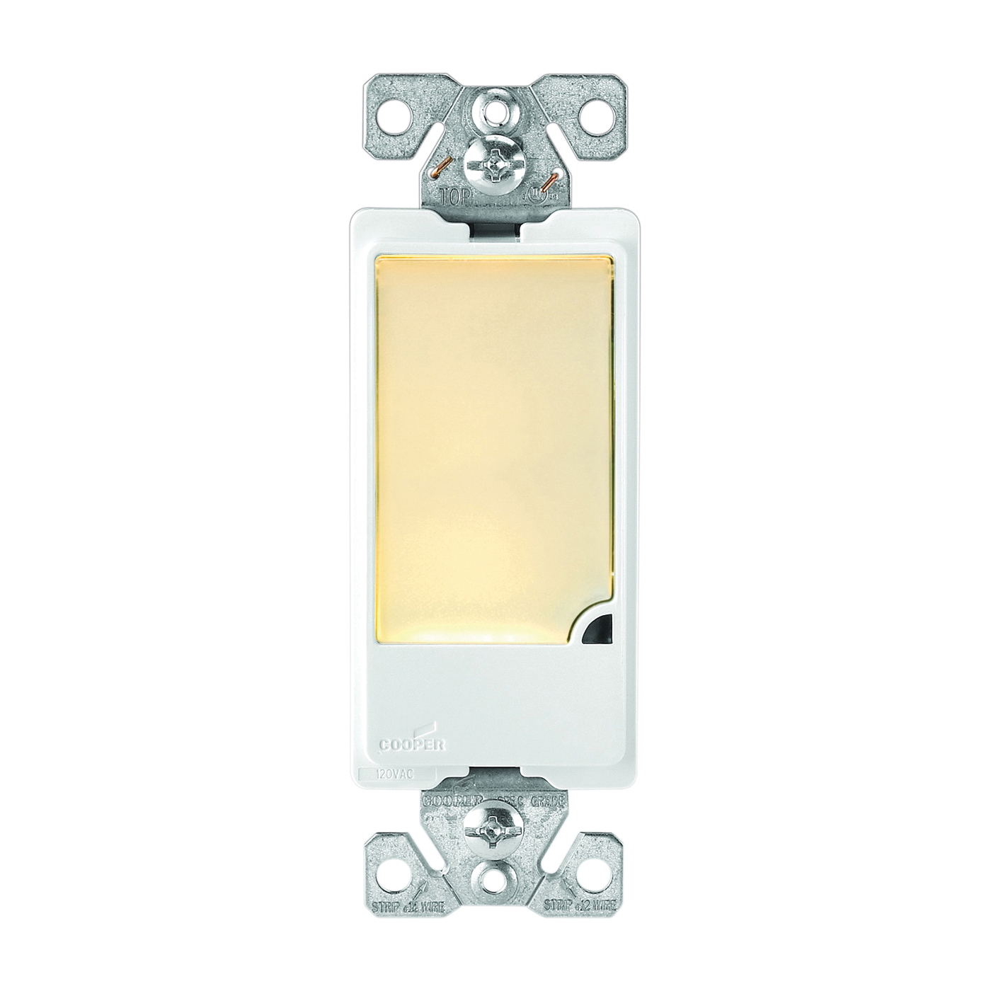 Picture of Eaton Cooper Wiring Patrol 7737V-BOX Nightlight, 15 A, 120 V, 1 W, 3-Lamp, LED Lamp, Ivory Light, PVC Fixture