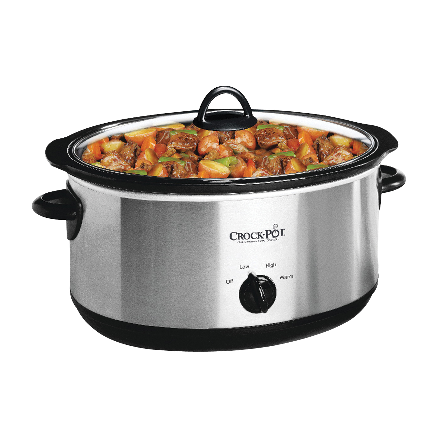 Picture of Crock-Pot SCV700-SS Slow Cooker, 7 qt Capacity, 270 W, Manual Control, Stainless Steel, Silver