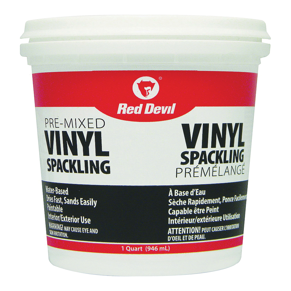 Picture of Red Devil 00133CA Spackling Compound Off-White, Off-White, 1 qt, Tub