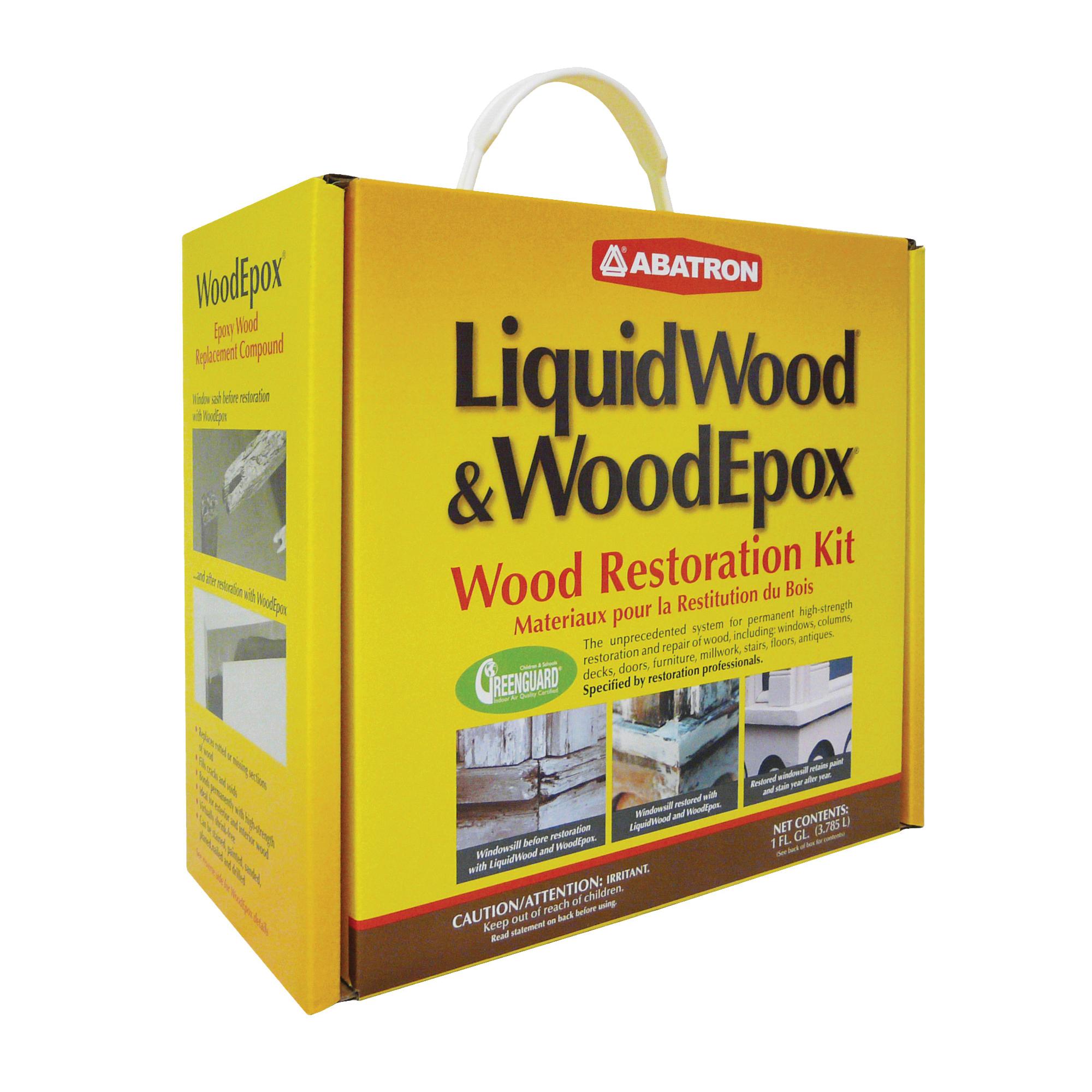 Picture of ABATRON Abosolv WR4QKR Wood Restoration Kit, 4 qt Package, Box