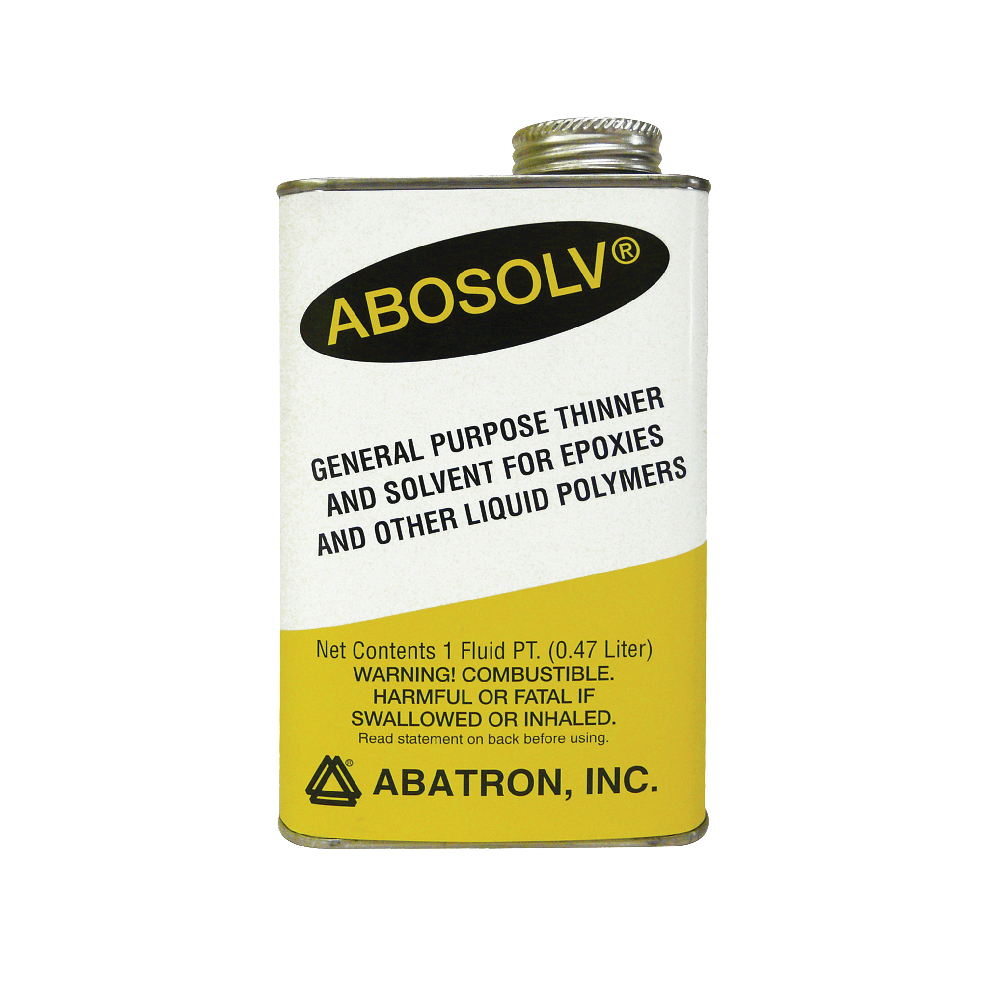 Picture of ABATRON Abosolv ASPR Wood Repair Solvent, Liquid, Irritating Aromatic, Clear, 1 pt Package