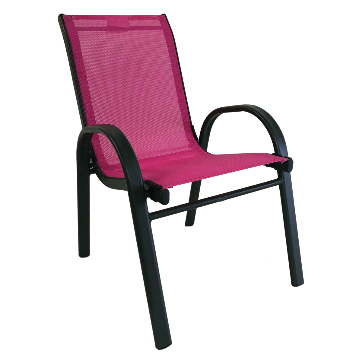 Picture of Seasonal Trends 50482 Kiddy Stack Chair, 2 to 6 Years, Textilene 2x1, Bright Pink, 23.03 in OAH
