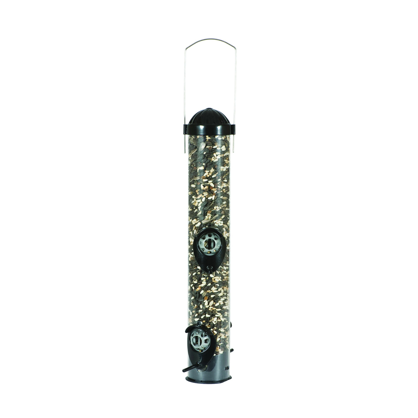 Picture of Perky-Pet 386 Squirrel Shield Feeder, 16-1/2 in H, 1 lb, Metal/Plastic, Black, Hanging/Pole Mounting