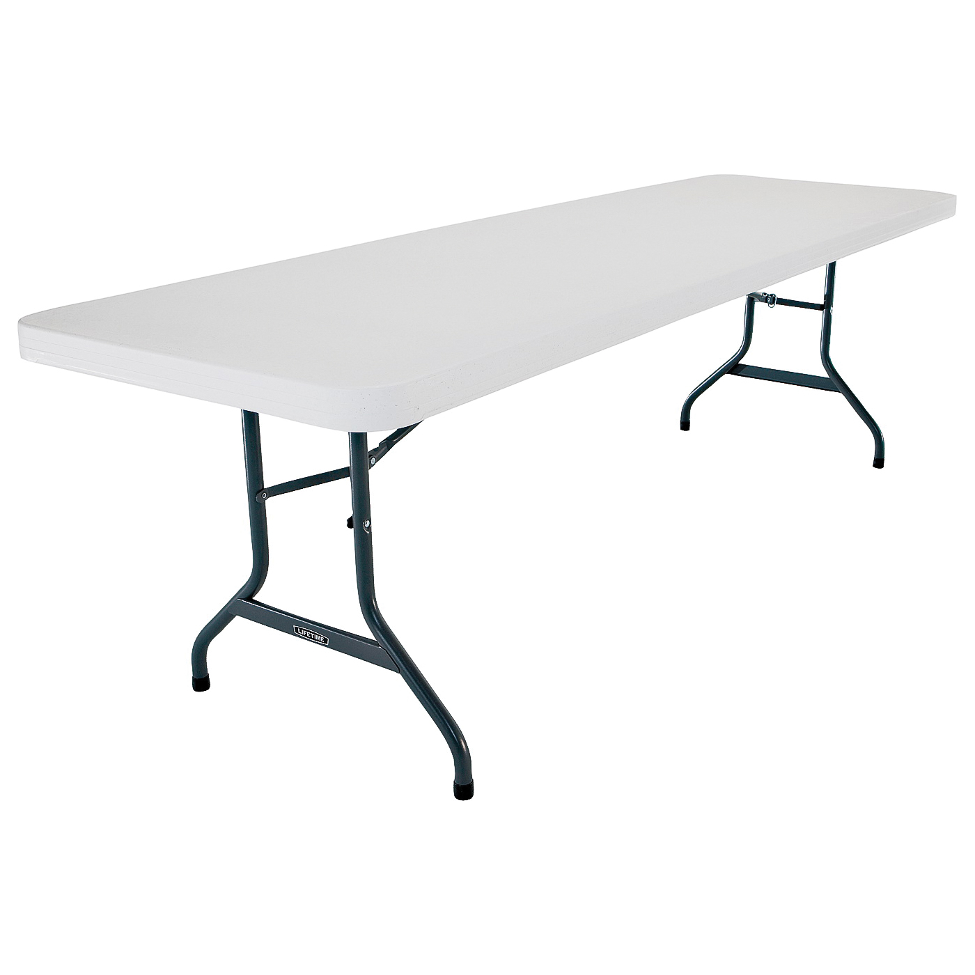 Picture of Lifetime Products 2980 Folding Table, Steel Frame, Polyethylene Tabletop, Gray/White