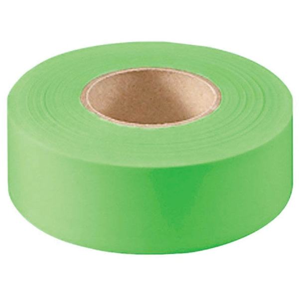 Picture of CH Hanson 17004 Flagging Tape, 150 ft L, 1-3/16 in W, Fluorescent Green, PVC