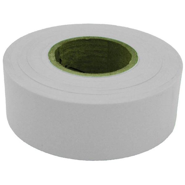 Picture of CH Hanson 17020 Flagging Tape, 300 ft L, 1-3/16 in W, White, Polyethylene