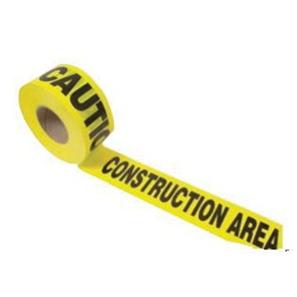 Picture of CH Hanson 16009 Barricade Safety Tape, 1000 ft L, 3 in W, Yellow, Polyethylene
