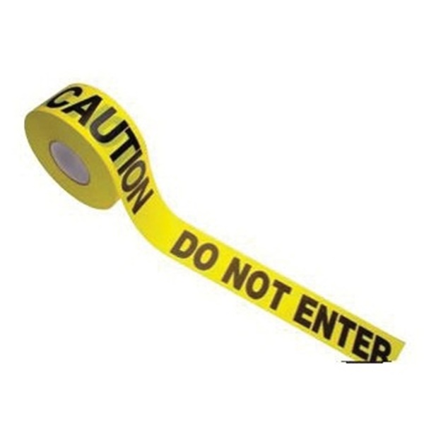 Picture of CH Hanson 16002 Barricade Safety Tape, 1000 ft L, 3 in W, Yellow, Polyethylene