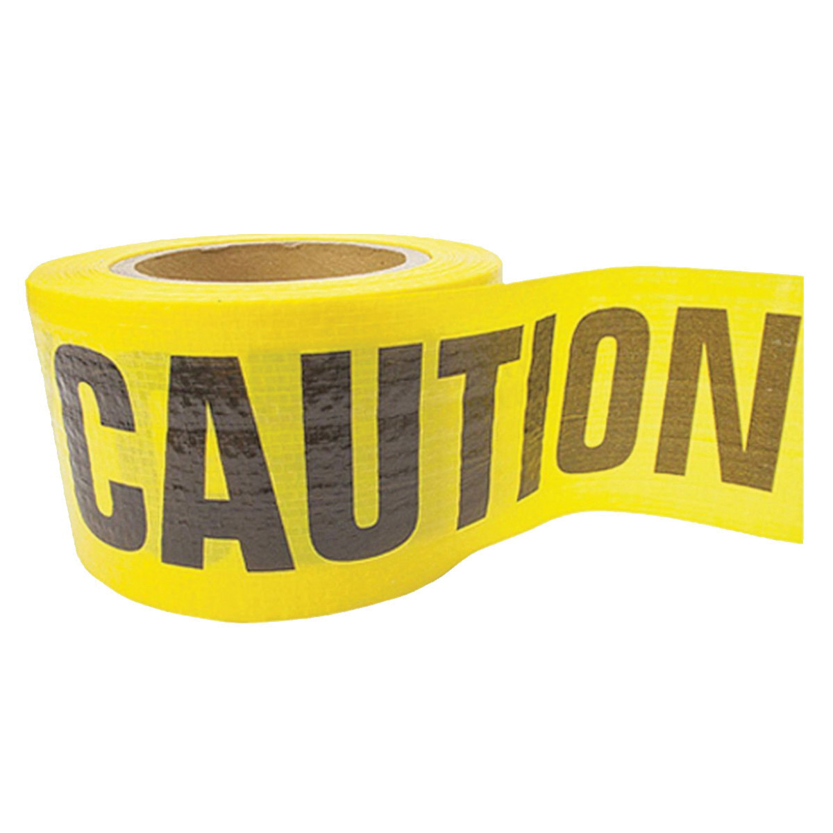Picture of CH Hanson 16030 Reinforced Barricade Tape, 500 ft L, 3 in W, Yellow, Polyethylene